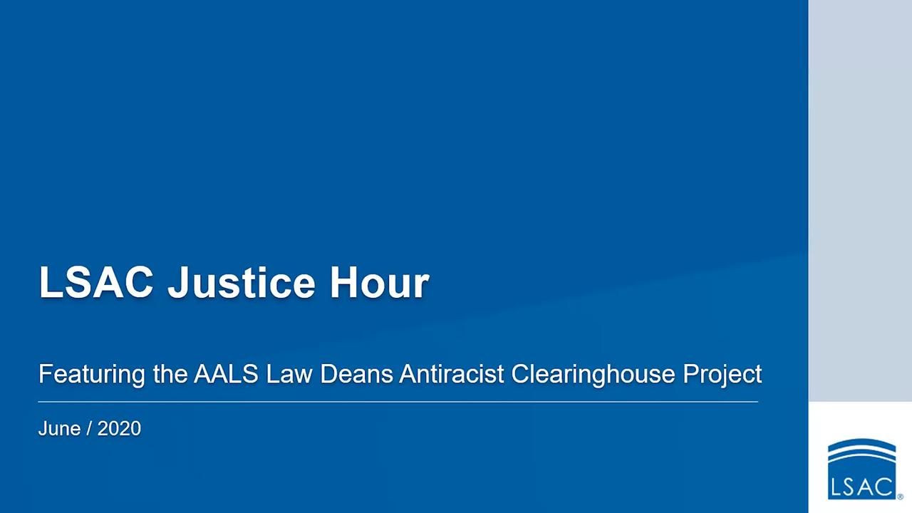 Webinar title screen Justice Hour June 22