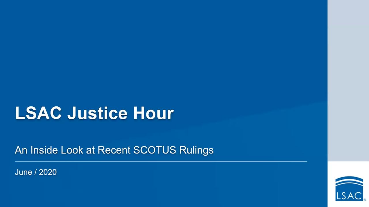 Webinar title screen Justice Hour June 30