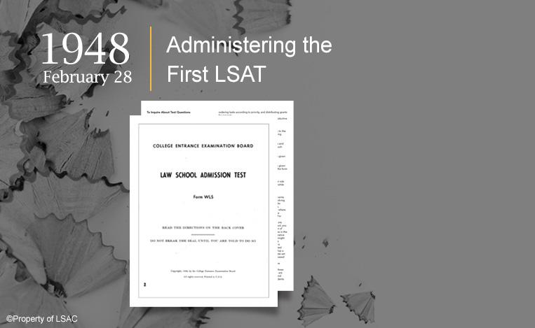The cover of the first Law School Admission Test. Image copyright LSAC.
