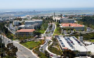 University of San Diego School of Law campus aerial photo