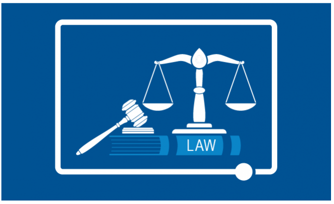 Gavel and scales of justice icon