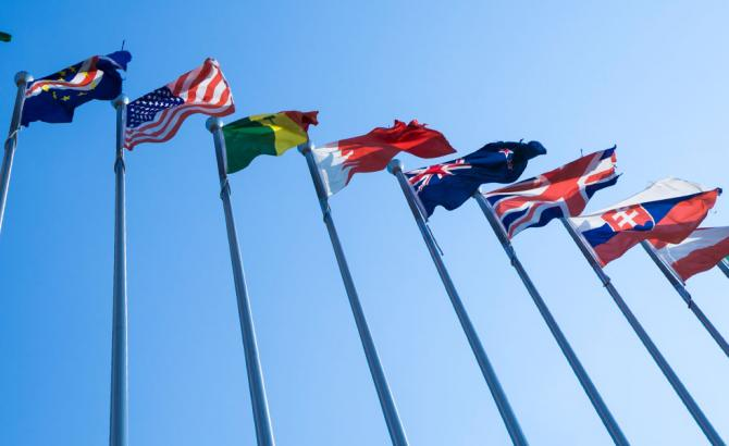 Flags of many nations